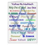 Nombres mesiánicos tarjeta