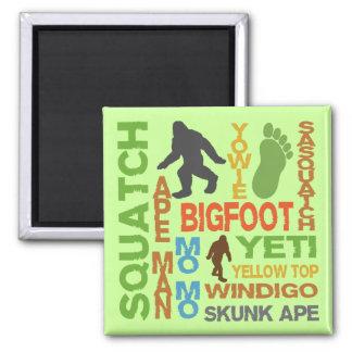 Nombres para Bigfoot Imán Cuadrado