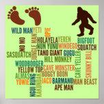 Nombres para Bigfoot Impresiones