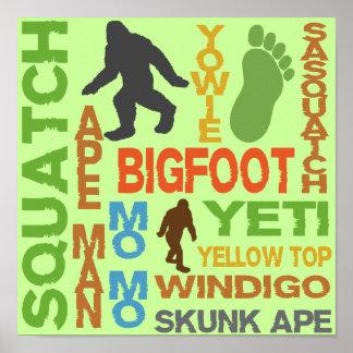 Nombres para Bigfoot Posters