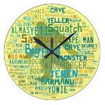 Nombres para Bigfoot Reloj De Pared