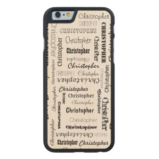 Nombres personalizados 11 letras de largo funda de iPhone 6 carved® de arce