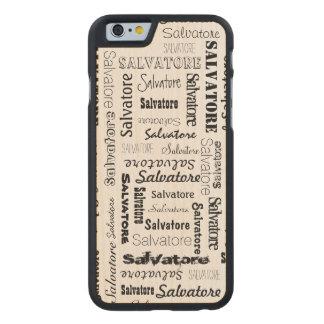Nombres personalizados 9 letras de largo funda de iPhone 6 carved® slim de arce