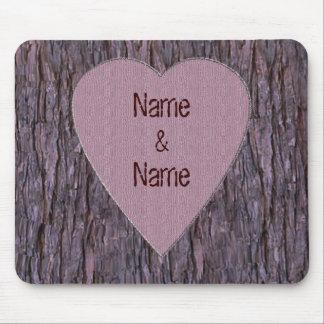 Nombres personalizados tallados en cojín de ratón  tapete de raton