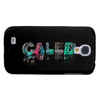 Nombres únicos - Caleb en las luces 3D Funda Para Samsung Galaxy S4
