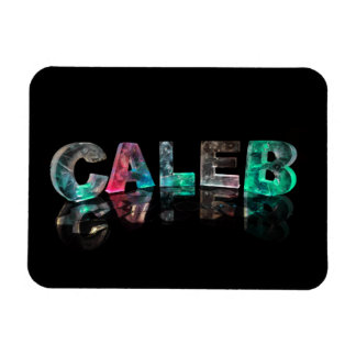Nombres únicos - Caleb en las luces 3D Iman De Vinilo