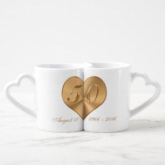 Nombres y 50.as tazas del aniversario de las taza amorosa