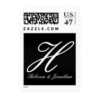 Nombres y monograma inicial+franqueo H de los Sello Postal