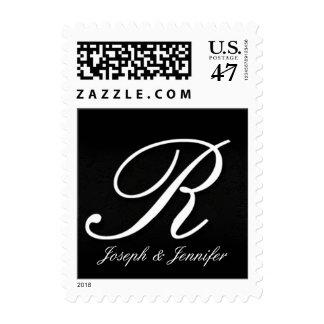 Nombres y monograma inicial+franqueo R de los Estampilla