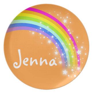 """""""Nombró"""" el arco iris los chicas anaranjados de Je Plato Para Fiesta"""