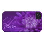 """""""nombró"""" el crisantemo caja púrpura de iphone4S ap Case-Mate iPhone 4 Coberturas"""
