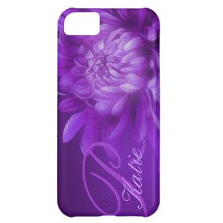 nombró el crisantemo caja púrpura del iphone 5