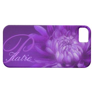 """""""nombró"""" el crisantemo caja púrpura del iphone 5 iPhone 5 Case-Mate carcasas"""