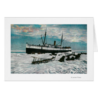 Nome, Alaska View of Steamer on Ice Edge Card