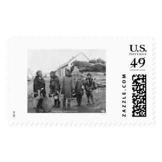 Nome Eskimo Berry Pickers 1916 Stamps