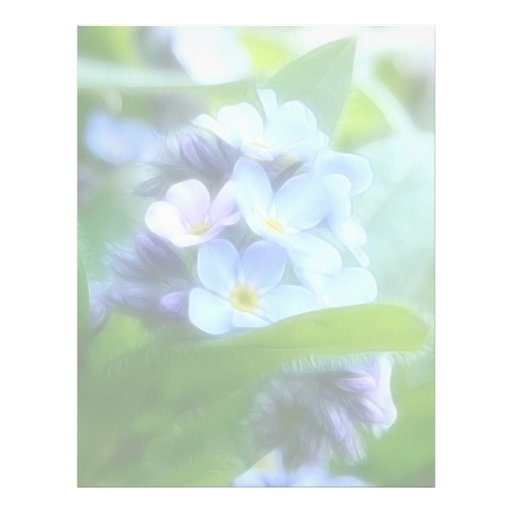 Nomeolvides azules frescas membretes personalizados
