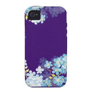 Nomeolvides azules Case-Mate iPhone 4 fundas