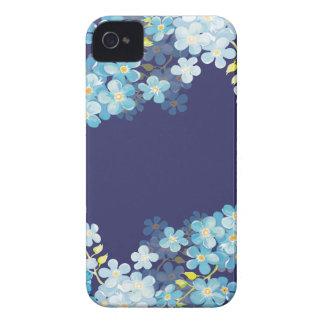 Nomeolvides azules iPhone 4 Case-Mate cárcasas