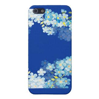 Nomeolvides azules iPhone 5 carcasas