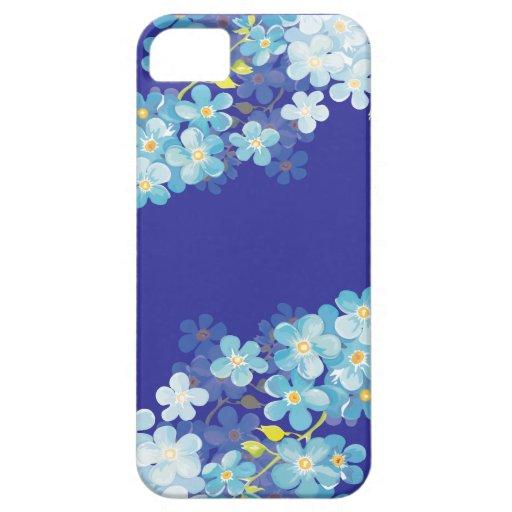 Nomeolvides azules iPhone 5 funda