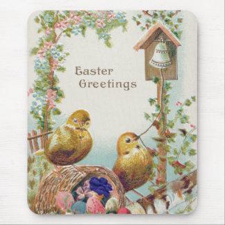 Nomeolvides Bell del polluelo de Pascua Alfombrillas De Ratón