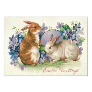 """Nomeolvides coloreada del huevo del conejito de invitación 5"""" x 7"""""""