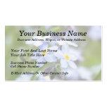 Nomeolvides de jardín plantilla de tarjeta de negocio