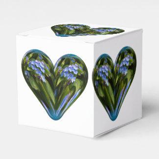 nomeolvides del corazón caja para regalos