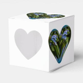 nomeolvides del corazón caja para regalos de fiestas
