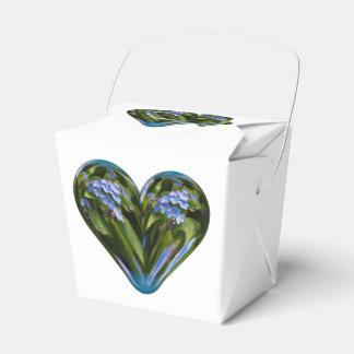 nomeolvides del corazón cajas para regalos de boda