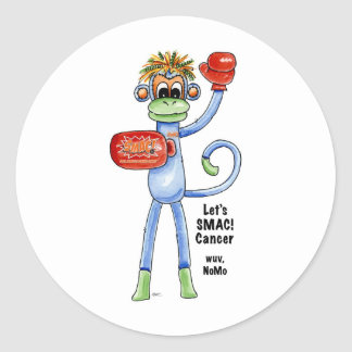 NoMo the SMAC! Monkey - Boxing Classic Round Sticker
