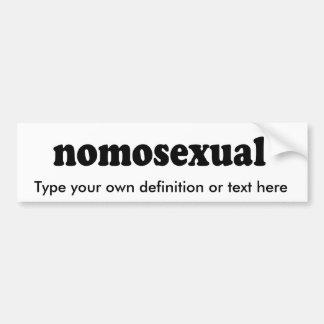 NOMOSEXUAL BUMPER STICKERS