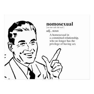 Nomosexual (definición) tarjetas postales