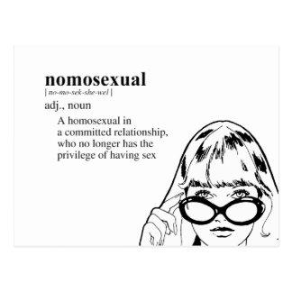 Nomosexual (definition) postcard