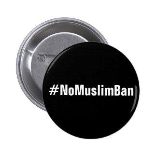 #NoMuslimBan, bold white text on black button