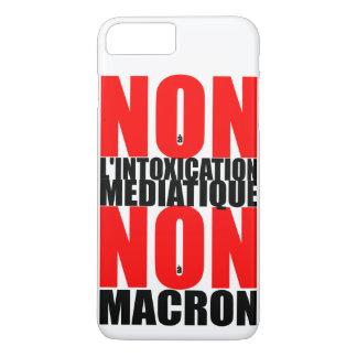Non à l'INTOXICATION MEDIATIQUE NON à MACRON iP iPhone 8 Plus/7 Plus Case