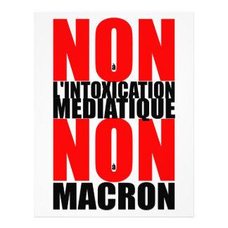 Non à l'INTOXICATION MEDIATIQUE NON à MACRON L Letterhead