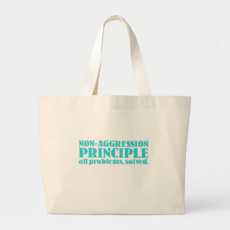 Non-Aggression Principle Large Tote Bag