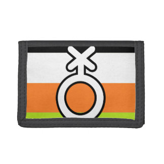 NON-BINARY FLAG AND SYMBOL TRIFOLD WALLET