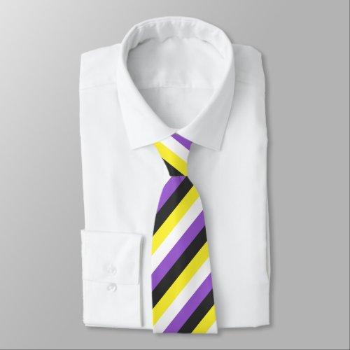 Non_Binary Flag Neck Tie