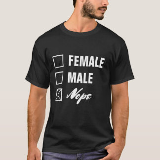 Non-Binary Gender Checklist White Text T-Shirt