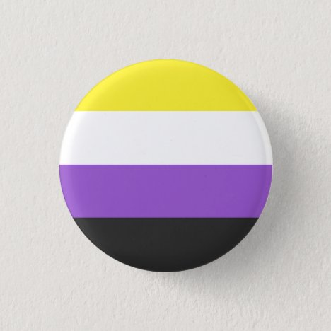 Non Binary Pride Flag Badge Button