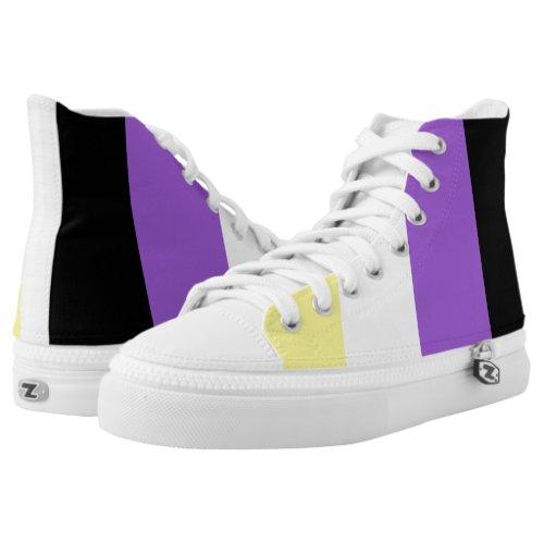 Non Binary Pride Flag High_Top Sneakers