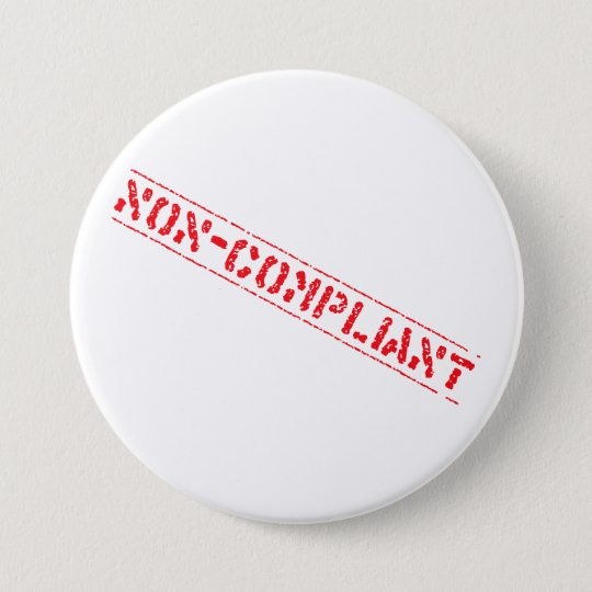 Non-Compliant Badge Pinback Button