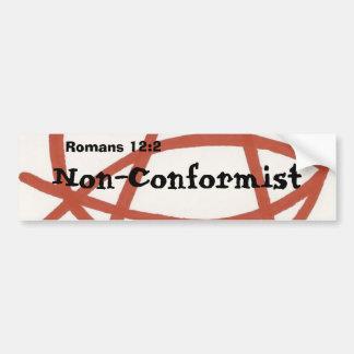 Non-Conformist Bumper Sticker