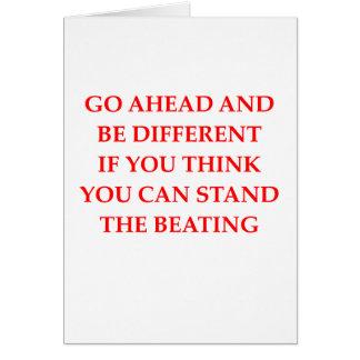 non conformist greeting card