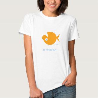 Non-Conformist Cute Funny Ladies' Cartoon T-Shirt