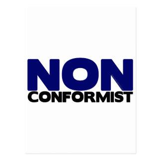 NON CONFORMIST POSTCARD