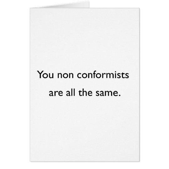Non Conformists Card