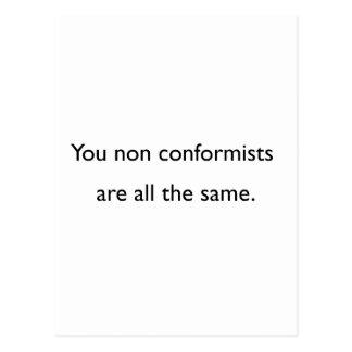 Non Conformists Postcard